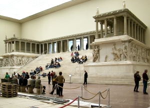 The Pergamum Altar in Berlin, Germany.  They built this in 1930.  Do you think maybe that was a sign?