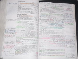 This is my Bible in Galatians. I would not spend this much ink on someone I thought was an apostate.