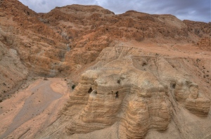 The Dead Sea Scroll caves, near Qumran, a city of the Essenes