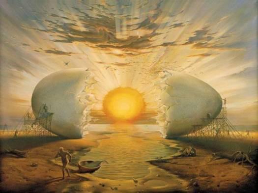 "Vladimir Kush, ""Sunrise by the Ocean"""