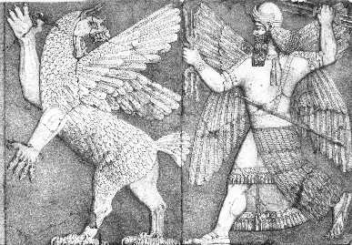 Marduk and Tiamat_Relief